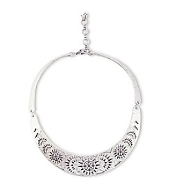 Lucky Brand® Silvertone Openwork Collar Necklace