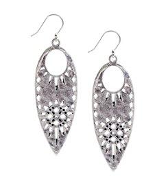 Lucky Brand® Silvertone Leaf Earrings