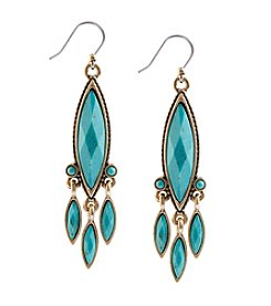 Lucky Brand® Goldtone Turquoise Chandelier Earrings