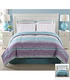 LivingQuarters Stripe 8-pc. Comforter Set