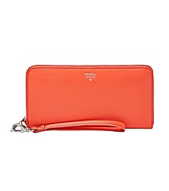 Fossil® Sydney Glazed Leather Zip Clutch