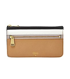 Fossil® Preston Leather Colorblock Flap Clutch