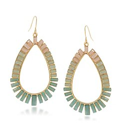 Carolee® Goldtone Island Daiquiri Hoop Pierced Earrings