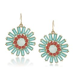 Carolee® Goldtone Island Daiquiri Cluster Drop Pierced Earrings