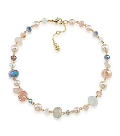 Carolee® Goldtone Gemstone Garden Beaded Necklace