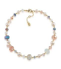 Carolee® Goldtone Gemstone Garden Beaded Necklace