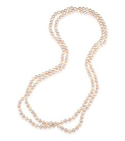 Carolee® Goldtone Peach Blossom Pearl Rope Necklace