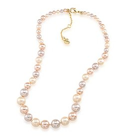 Carolee® Goldtone Peach Blossom Graduated Pearl Necklace
