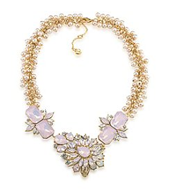 Carolee® Goldtone Gemstone Garden Dramatic Frontal Necklace