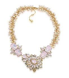 Carolee® Goldtone Gemstone Garden Dramatic Frontal Necklace