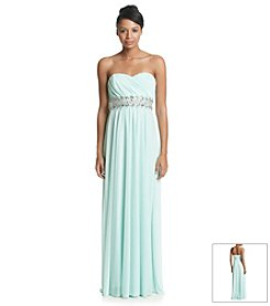 My Michelle Jeweled Sweetheart Dress With Belt