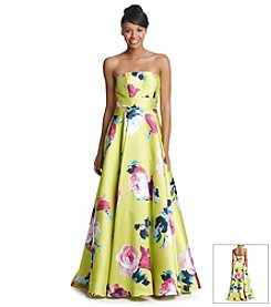 Bee Darlin' Green Floral Ballgown