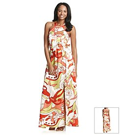 XOXO® Retro Printed Maxi Dress