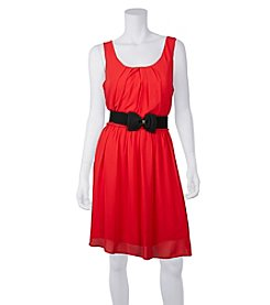 A. Byer Scuba Dress With Bow Belt
