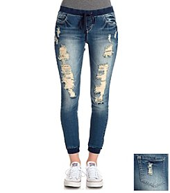 Wallflower® Destructed Jogger Jeans