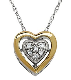 0.01 ct. t.w. Diamond Heart Pendant Necklace in Sterling Silver