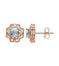 0.02 ct. t.w. Diamond Earrings in 10K Rose Gold