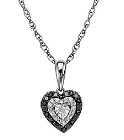 0.10 ct. t.w. Diamond Heart Pendant Necklace in Sterling Silver