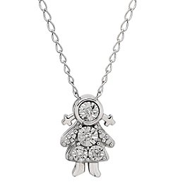 Little Girl Necklace in Sterling Silver