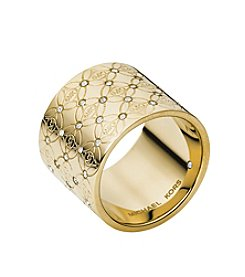 Michael Kors® Goldtone Open Monogram Ring