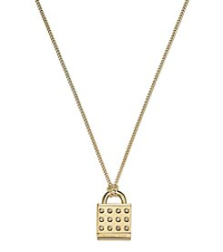 Michael Kors® Goldtone Astor Padlock Pendant Necklace