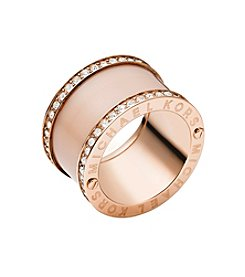 Michael Kors® Rose Goldtone Barrel Ring