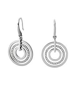 Michael Kors® Silvertone Small Open Circle Earrings