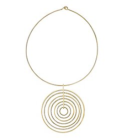 Michael Kors® Goldtone Large Circle Pendant Choker Necklace
