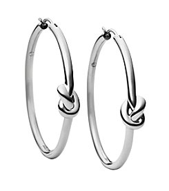Michael Kors® Silvertone Small Hoop Earrings
