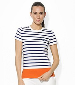 Lauren Jeans Co.® Striped Crewneck Pocket T-Shirt