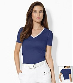 Lauren Jeans Co.® Cotton V-Neck Shirt