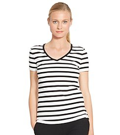 Lauren Jeans Co.® Striped V-Neck Shirt