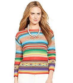Lauren Jeans Co.® Serape Boatneck Sweater