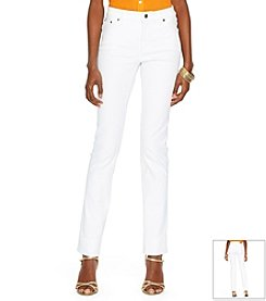 Lauren Jeans Co.® Super-Stretch Modern Curvy White-Wash Jeans