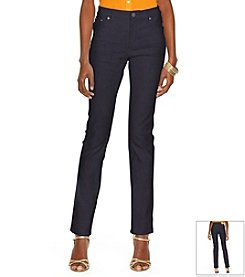 Lauren Jeans Co.® Super-Stretch Modern Curvy Harbor-Wash Jeans