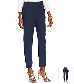Lauren Ralph Lauren® Sueded-Twill Skinny Pants