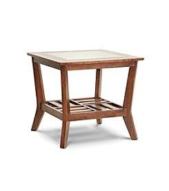 Baxton Studios Kislear Honeyed Veneer Modern End Table