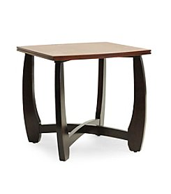 Baxton Studios Straitwoode Cherry and Dark Brown Modern End Table