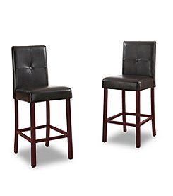 Baxton Studios Curtis Dark Brown Modern Counter Stools