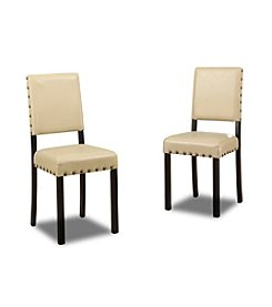 Baxton Studios Curtis Cream Modern Set of Dining Chairs