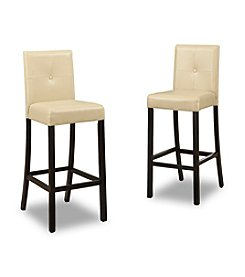 Baxton Studios Walter Cream Modern Set of Bar Stools