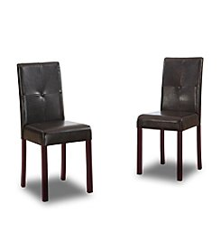 Baxton Studios Walter Dark Brown Modern Set of Dining Chairs