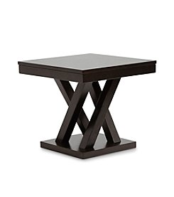 Baxton Studios Everdon Dark Brown Modern End Table
