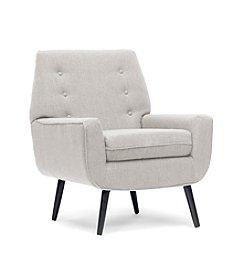 Baxton Studios Levison Beige Linen Modern Accent Chair