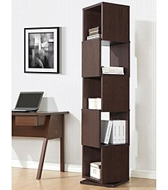 Baxton Studios Ogden Dark Brown 5-Level Rotating Modern Bookshelf