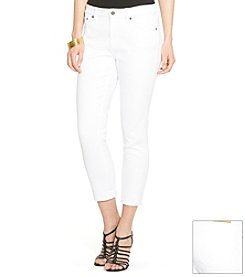 Lauren Jeans Co.® Cropped Twill Straight Pants