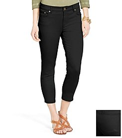 Lauren Jeans Co.® Super-Stretch Classic Straight Cropped Black-Wash Jean