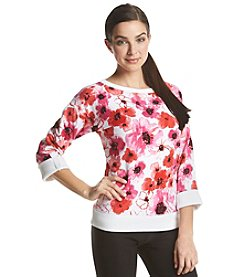 Jones New York Sport® Floral Print Sweatshirt