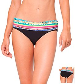 Anne Cole® Printed Stripe Foldover Swimsuit Bottom