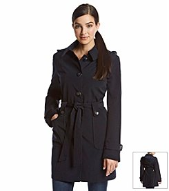 Gallery® Single Breasted Belted Trench Coat